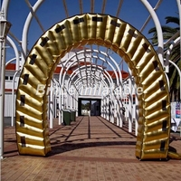 Top designed inflatable entrance arch golden inflatable arch gate for wedding party
