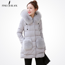 TOP quality new 2016 winter jacket women's parkas large fur collar hooded casual winter coat women outwear free shipping