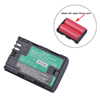 Tectra 1Pc LP E6 LP E6N Battery With High Quality Japan Sanyo Cells For Canon EOS
