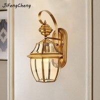 Jifengcheng Европейский полный Медь настенный светильник e27 открытый Водонепроницаемый бра проход коридор двор лампы балкон бра