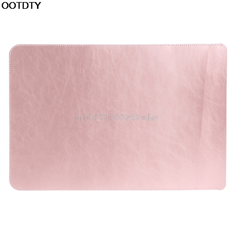 2 Layer Faux PU Leather font b Sleeve b font Laptop Bag For Apple for MacBook