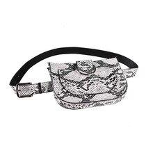 BISI GORO 2019 NEW Famal Fashion Snake Skin waist bag Serpentine lady belt waistband Fanny Pack Pu Leahter Waist Bag