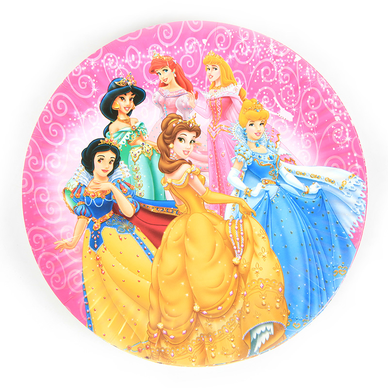 10Pcs/Pack Party Plates 7 inch Disney Princess series Theme Decor Girls Birthday Favors Party Plates Supplies Baby shower Favor