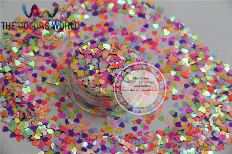 HR3-51 Mix 3MM Pastel matt Pearlescent Colors Heart  shape Glitter for Nail Art  and DIY supplies1pack=50g dn2 39 mix 2 3mm solvent resistant neon diamond shape glitter for nail polish acrylic polish and diy supplies1pack 50g