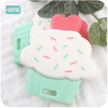 MamimamiHome Baby Silicone Cup Cake 20pcs Cute Diy Accessories Nursing Teething Toys Food Grade Silicone Teether Pendants Toys