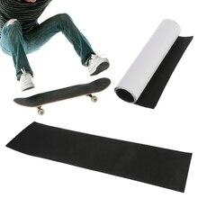 Профессиональный Черный скейтборд палуба наждачная бумага сцепление ленты для катания на коньках доска Longboarding 82*23 см