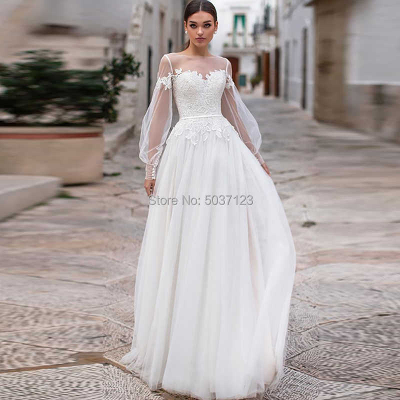 4a7ffbb48d5d1 Boho Wedding Dress 2019 New Designer Sexy Women Beach Wedding ...