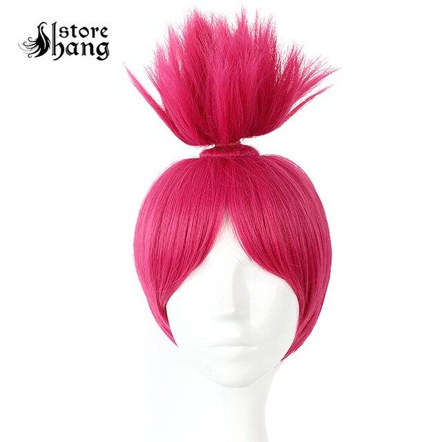Trolls Poppy Cosplay Fantastic Cool Hot Pink Hair Up Trolls Princess