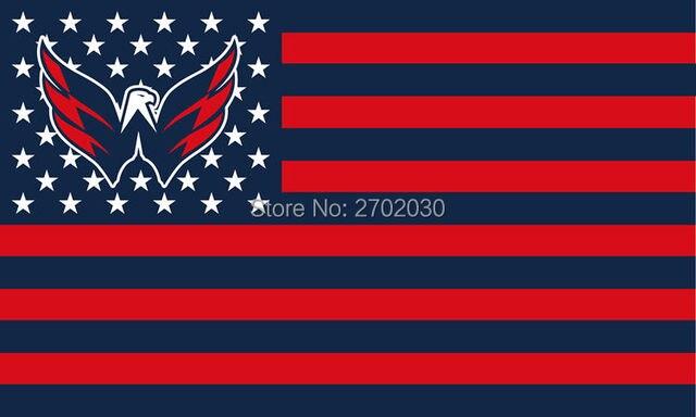 Washington Capitals Hockey Sports Team Star   Stripe US National Flag 3ft X  5ft Custom Banner With Sleeve Two Gromets 90 150CM 578c93ddf