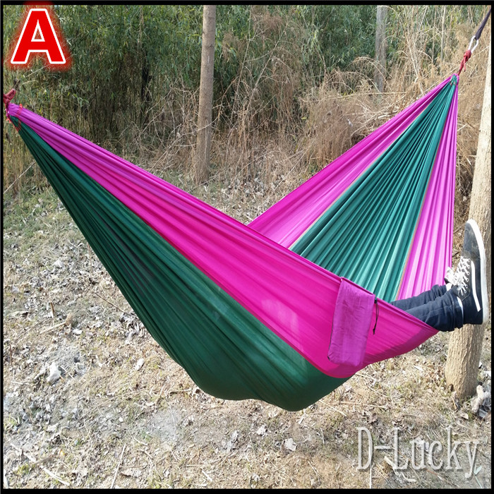 Hot!!!Portable 300 kg Load-bearing Outdoor Garden Hammock Hang Bed Travel Camping Swing Survival Outdoor Sleeping Free Shipping outdoor sleeping parachute hammock garden sports home travel camping swing nylon hang bed double person hammocks hot sale