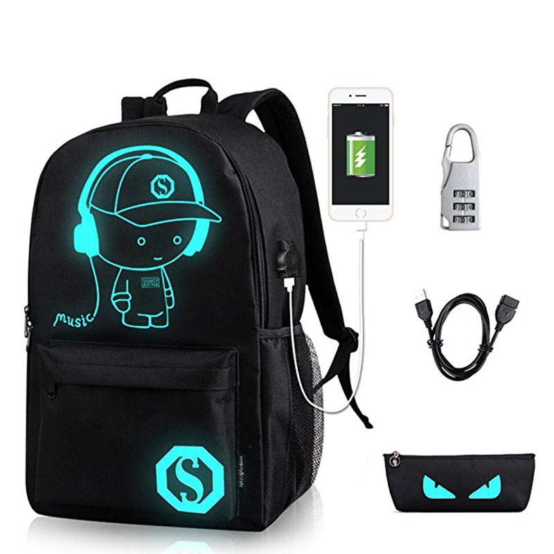 anime-luminous-school-backpack-for-boy-student-daypack-shoulder-under-156-inch-with-usb-charging-port-and-lock-school-bag-black