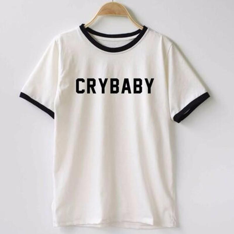 HTB1Q945LXXXXXXbapXXq6xXFXXXG - Crybaby Ringer Women T shirt PTC 08
