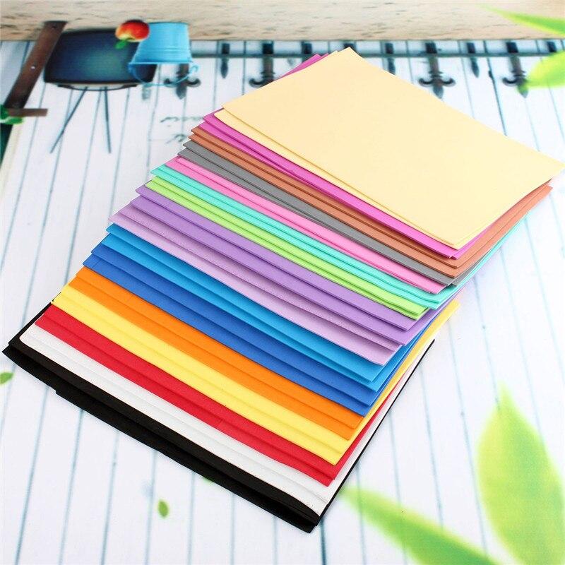 32 pcs/lot meilleur prix meilleure Promotion A4 2mm feuilles de mousse éponge papier bricolage mousse fleur artisanat matériel bricolage accessoires bricolage T
