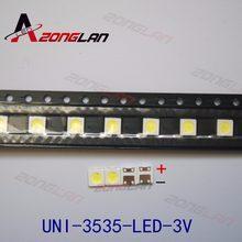 1500 pces uni led retroiluminação de alta potência led 1 w 3537 3535 90lm 3v branco fresco lcd backlight para tv aplicação