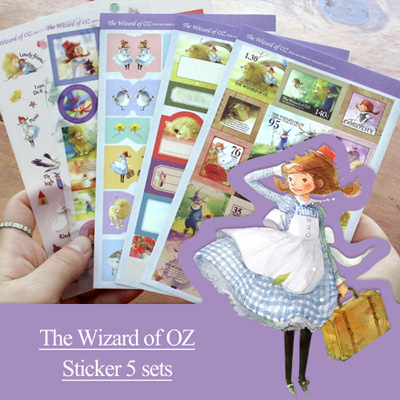 5 Sheets 1 Set Kawaii Scrapbooking Stickers The Wizard Of Oz Decoration Stickers Sticky Note Toy