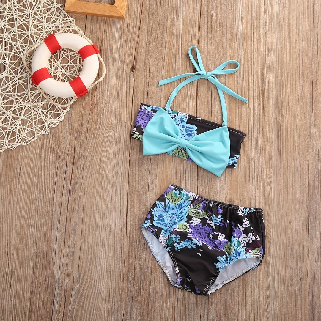 2Pcs Bikini Baby Toddler Kids Girls Swimsuit Bathing Suit Tankini Bikini Set 2017 New Summer Swimwear
