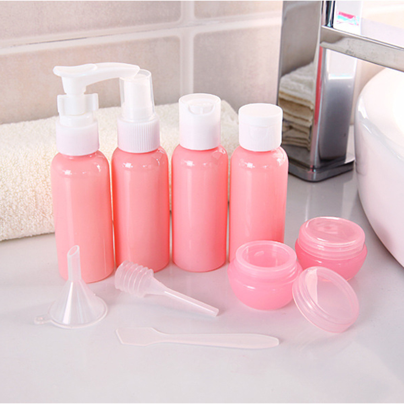 Refillable Travel Bottles Set Package Cosmetics Bottles Plastic Pressing Spray Bottle Makeup Tools Kit For Travel Vaporizer