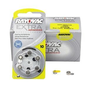Image 5 - Nova embalagem 10 cartão (60pcs) rayovac pilhas auditivas 10/a10/pr70 1.45v, aparelho auditivo, bateria siemens feito no reino unido