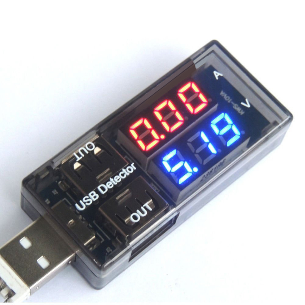 Mini Charger Doctor Voltage Current Tester USB LED Current Voltage Charging Detector Tester Battery Voltmeter Ammeter 2017 New 3 in 1 lcd mobile battery tester power detector voltage current meter usb charger doctor
