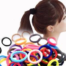 10Pcs Women Girls High Elasticity elastic candy color Rolled Towel Hair Rope Candy Solid Color Rubber Band Ring Ponytail Holder