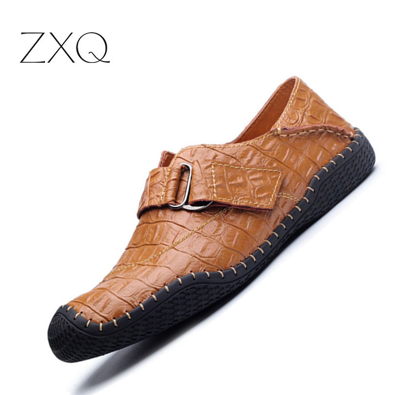 Brand new crocodile leather shoes men moccasins men shoes casual men loafers fashion shoes slip on high quality 2017 men s casual crocodile genuine leather boat shoes slip on penny loafers moccasin fashion new trended men s loafer shoes new