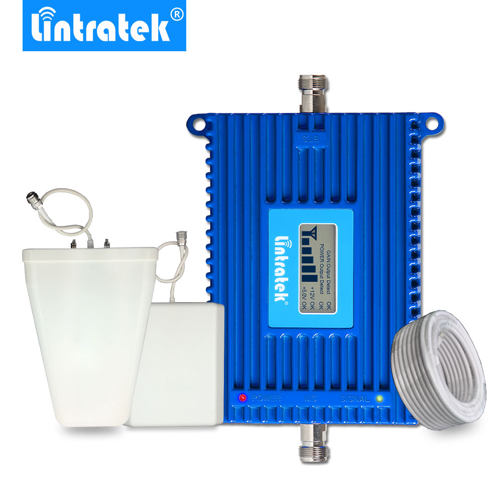 Lintratek 4G Signal Booster LTE 2600MHz B7 AGC Mobile Signal Repeater Set 70dB Gain Signal Amplifier