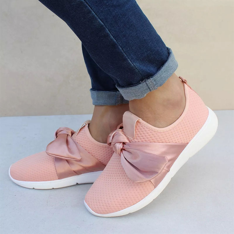 Woman Casual Shoes Breathable 2019 Sneakers Women Summer Fashion Bow Tie Mesh Sneakers Shoes Women Size 35-43