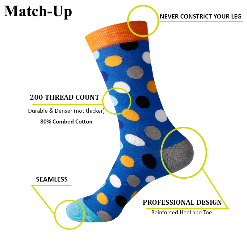 ec19b214b9bf Match Up Fun Dress Socks Colorful Funky Socks for Men Cotton Fashion  Patterned Socks Dot and Argyle style (10 Pairs/lot)-in Men's Socks from  Underwear ...