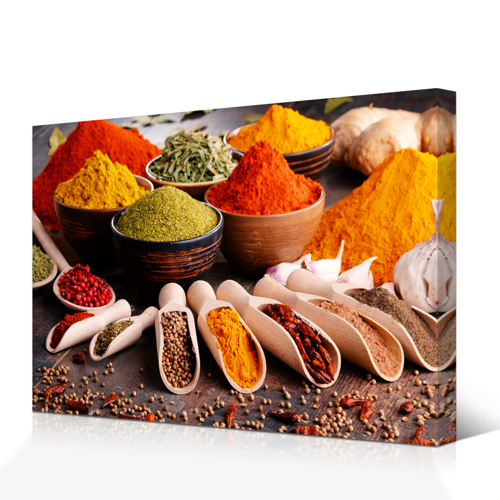 Kitchen Wall Decor Spice In Spoon Pepper Pictures Herbs