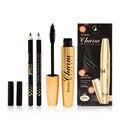 MENOW Personal Women Facial Cosmetic Makeup Tools Gold Aluminum Tube Makeup Mascara + Double Color Eyeliner Pen Set Hot Selling