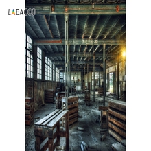 Laeacco Old Abandoned Factory Vintage Baby Portrait Photography Background Customized Photographic Backdrops For Photo Studio