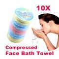 25 см x 40 см 10 шт. мини открытый путешествие одноразовые кемпинг портативный магия одноразовые сжатого банные полотенце для рук мочалкой