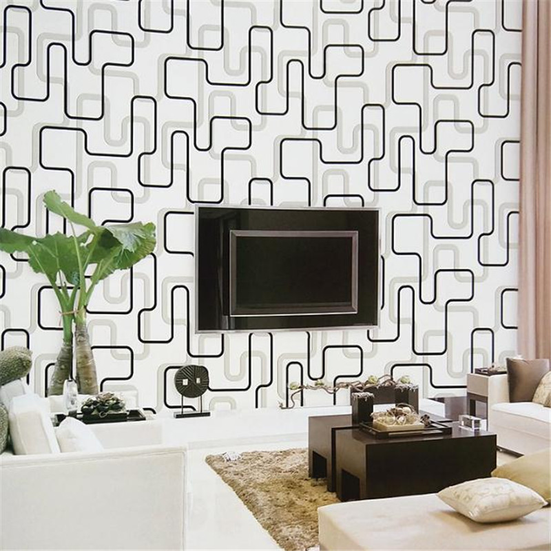 Europe Modern Non Woven Wallpaper Roll Home Decor Embossed WallPapers Living Room Bedroom Wallpaper Wallcovering Abstract Lines milan classical wall papers home decor non woven wallpaper roll embossed simple light color living room wallpapers wall mural