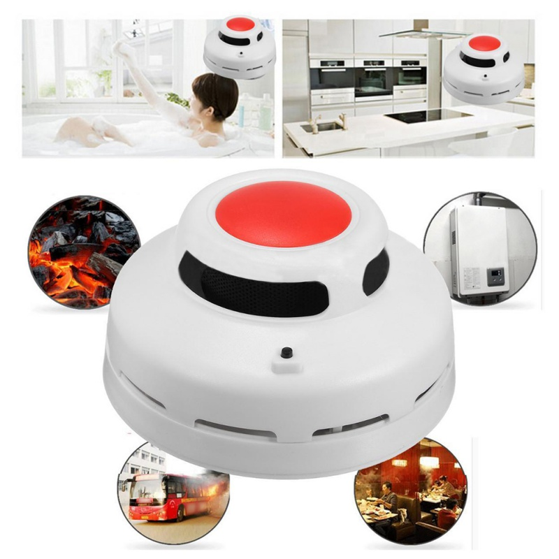 2-in-1 Carbon Monoxide Smoke Alarm Battery Operated Poisoning Gas Warning Sensor Home Safety Device Carbon Monoxide Detector