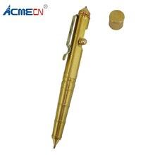 ACMECN 80g Brass Tactical Pen Vintage Design Multi-functional BallPoint Emergency Self Defense Supplies EDC Tool Gifts