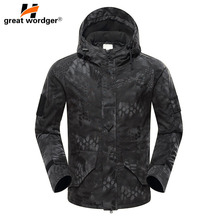 New Tactical Army Camouflage Jacket Military Climbing Hiking Mens Windbreaker Winter Waterproof Thermal Coat