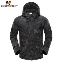 New Tactical Army Camouflage Jacket Military Climbing Hiking Jacket Men's Windbreaker Winter Waterproof Thermal Jacket Coat недорого