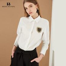 BEIYAYAN Peter pan Collar Blouses Nine Quarter Sleeve Women Shirts 2017 Newest Ladies Tops Formal