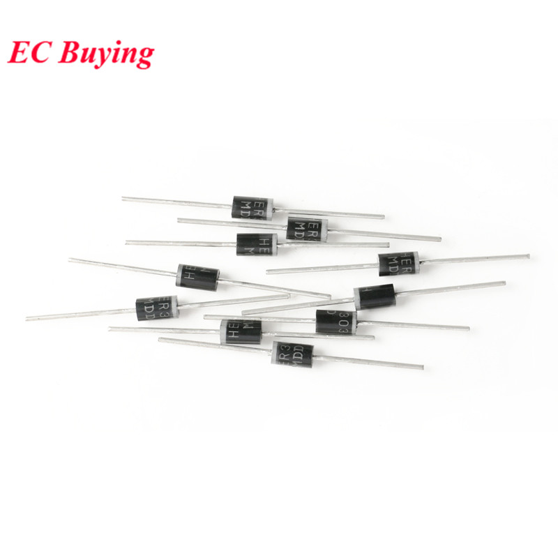 HER304  DIOTEC Gleichrichterdiode  Rectifier 300V  3A  75ns DO201AD  #BP 10 pcs