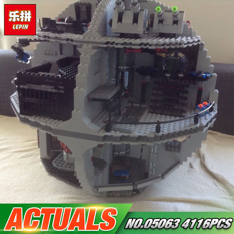 2017 New 4116Pcs Lepin 05063 Star Series War UCS Death Toys Star Rogue Model One Set Building Blocks Bricks Toys 79159 gonlei figures rogue one k 2so death trooper sergeant jyn erso figure toys building blocks christmas gifts lepin