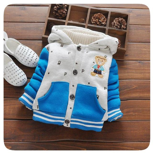 free shipping 2016 winter new baby boy and girl clothes,children's thick warm down jackets,kids sports hooded outerwear 3 color