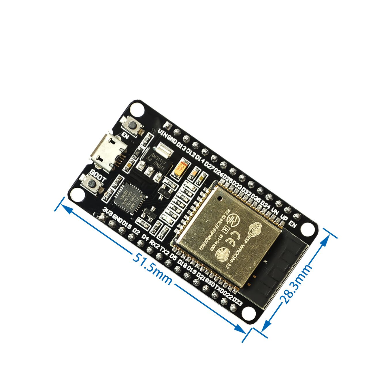 Image 2 - 5PCS Official DOIT ESP32 Development Board WiFi+Bluetooth Ultra Low Power Consumption Dual Core ESP 32S ESP 32 Similar ESP8266-in Integrated Circuits from Electronic Components & Supplies