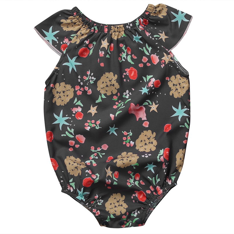 Baby Girls Floral Rompers 2017 Summer Newborn Baby Girl Romper O-Neck Sleeveless Jumpsuit Outfits Cotton Sunsuit Clothes 0-24M newborn baby rompers baby clothing 100% cotton infant jumpsuit ropa bebe long sleeve girl boys rompers costumes baby romper
