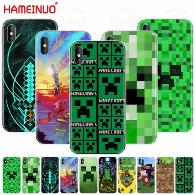 Hameinuo Creeper Minecraft Cell Phone Cover Case For Iphone X 8 7 6