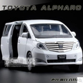 Toyota Alphard MPV 1:27 kids toy car model alloy sound light pull back 18*8*7cm business car boy gift collection free shipping