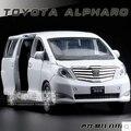 Toyota Alphard MPV 1:27 niños de aleación modelo de coche de juguete de sonido luz de tira 18*8*7 cm regalo del muchacho del coche de negocios colección envío gratis
