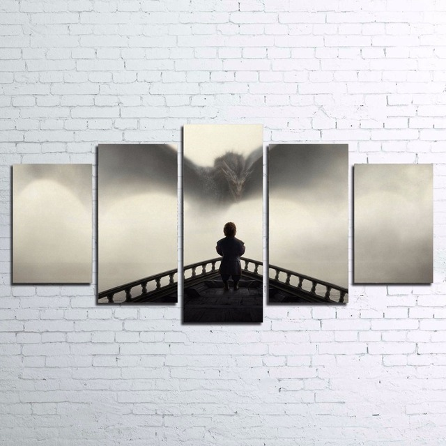 Modern Canvas Painting HD Printed Frame Living Room Home Decor 5 ...