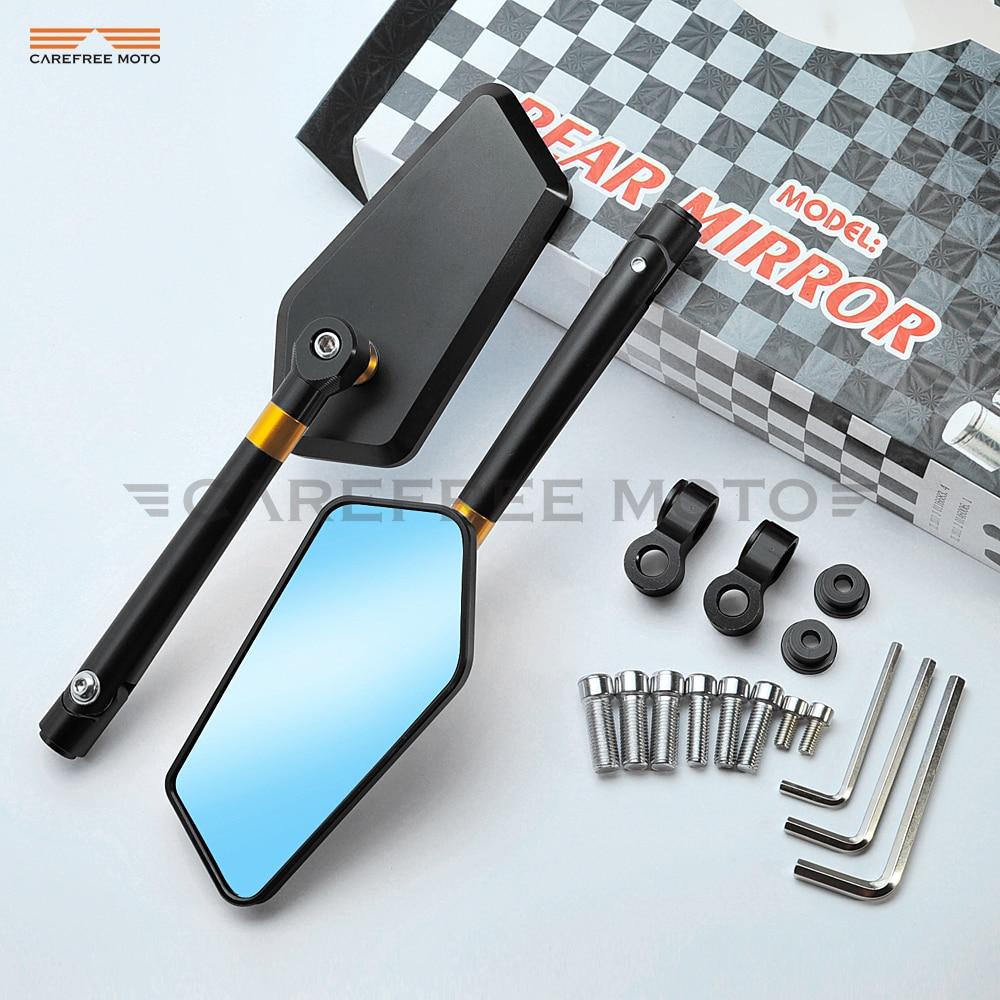 CNC Motorcycle Rearview Side Mirrors Case for Kawasaki Z750 Z800 Z900 Z1000 Yamaha MT 03 MT