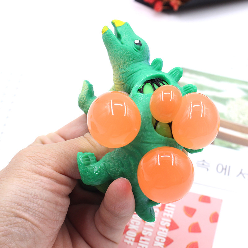 Dinosaurs Model Toy Grape Venting Ball Squeeze Pressure Stress Ball Stress Relief Toys For Children Sensory TPR Toy Random Color