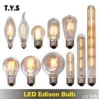 Rétro Antique Led Ampoule E27 Ampoule Vintage Led Edison Filament lumière Lampada 220v ST64 Led économie d'énergie lampe bougie lumières Ampoule